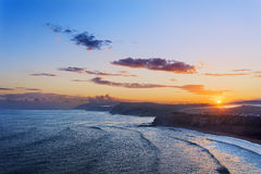 Sopelana coast at sunrise. Sopelana coast at the sunrise Stock Image