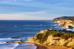 Sopelana coastline. Beautiful view of Sopelana coast stock photography