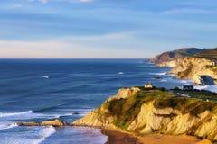 Sopelana coastline. Beautiful view of Sopelana coast Stock Photography