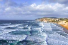 Sopelana coastline with waves. Sopelana coastline with some waves Stock Photos