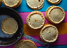 Sopes handmade mexican traditional food Royalty Free Stock Images