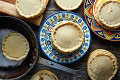 Sopes handmade mexican traditional food Stock Photos