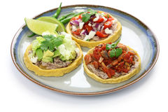 Sopes. Traditional mexican dish on white background Stock Image