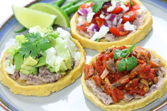 Sopes. Traditional mexican dish on white background Stock Images