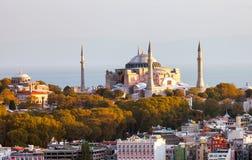 sophia της Κωνσταντινούπολης hag Το παγκοσμίως διάσημο μνημείο της βυζαντινής αρχιτεκτονικής Άποψη του καθεδρικού ναού του ST Sop Στοκ Φωτογραφία