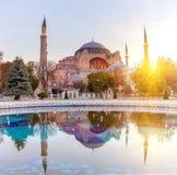 sophia της Κωνσταντινούπολης hag Το παγκοσμίως διάσημο μνημείο της βυζαντινής αρχιτεκτονικής Άποψη του καθεδρικού ναού του ST Sop Στοκ Φωτογραφίες