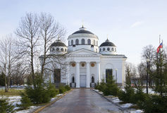 Sophia (Ascension) Cathedral march afternoon. Tsarskoye Selo Royalty Free Stock Photography