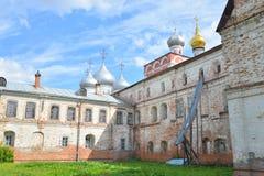 Sophia Cathedral and Bishops yard. Sophia Cathedral and Bishops yard in Vologda, Russia Stock Images