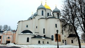 Sophia cathedral. On the territory of the Novgorod Kremlin. An outstanding monument of old Russian architecture. Veliky Novgorod. Russia Royalty Free Stock Images