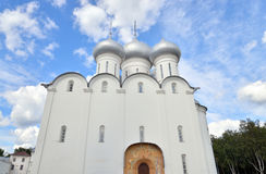 Sophia Cathedral in Vologda. Sophia Cathedral - Orthodox church, now a museum in Vologda, Russia. Erected in 1568 - 1570 years on the orders of Ivan the Stock Image