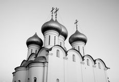 Sophia Cathedral in Vologda. Sophia Cathedral - Orthodox church, now a museum in Vologda, Russia. Erected in 1568 - 1570 years on the orders of Ivan the Royalty Free Stock Photo