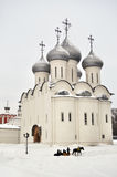 Sophia cathedral in Vologda, Russia. View of Sophia cathedral in Vologda, winter time, Russia stock images