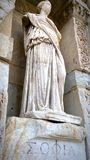 Sophia Celsus. Statue of Sophia in Celsus library royalty free stock photos