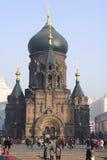 Sophia Church. Morning Saint Sophia Cathedral church building view.Haerbin-City centre, china Stock Images