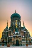 Sophia Church harbin. Harbin construction art museum,St.  Sophia Church Stock Photos