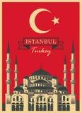 Sophia de Hagia sur le drapeau de turc de fond Photographie stock