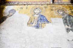 Sophia Hagia Art. Christian art inside the Sophia Hagia in Istanbul, Turkey Stock Images