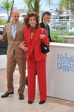 Sophia Loren & Edoardo Ponti. CANNES, FRANCE - MAY 21, 2014: Sophia Loren & son Edoardo Ponti at her photocall at the 67th Festival de Cannes, where she is Royalty Free Stock Photos