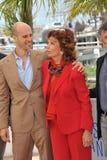 Sophia Loren & Edoardo Ponti Royalty Free Stock Images