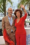 Sophia Loren & Edoardo Ponti Royalty Free Stock Photo