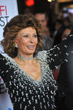 Sophia Loren. LOS ANGELES, CA - NOVEMBER 12, 2014: Sophia Loren at the American Film Institute's special tribute gala in her honor as part of the AFI FEST 2014 royalty free stock photography