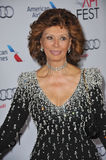 Sophia Loren. LOS ANGELES, CA - NOVEMBER 12, 2014: Sophia Loren at the American Film Institute's special tribute gala in her honor as part of the AFI FEST 2014 Stock Photo