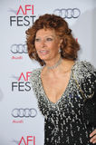 Sophia Loren. LOS ANGELES, CA - NOVEMBER 12, 2014: Sophia Loren at the American Film Institute's special tribute gala in her honor as part of the AFI FEST 2014 Royalty Free Stock Photos