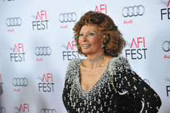 Sophia Loren. LOS ANGELES, CA - NOVEMBER 12, 2014: Sophia Loren at the American Film Institute's special tribute gala in her honor as part of the AFI FEST 2014 Royalty Free Stock Image