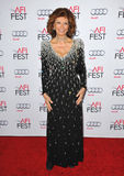Sophia Loren. LOS ANGELES, CA - NOVEMBER 12, 2014: Sophia Loren at the American Film Institute's special tribute gala in her honor as part of the AFI FEST 2014 stock photo