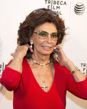 "Sophia Loren. Oscar-winning actress Sophia Loren appears on the red carpet for the world premiere of ""Human Voice,"" a short film in which she stars, based on Royalty Free Stock Photography"