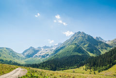 Sophia Mountain in Arkhiz place Russia. Northern Caucasus. Russia royalty free stock photography