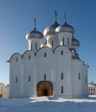 Sophia orthodox cathedral, Russia. Saint Sophia orthodox cathedral (built in 1570 by order of Ivan the Terrible), Kremlin of Vologda city, Russia. This image was royalty free stock photo