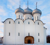 Sophia orthodox cathedral, Russia. Saint Sophia orthodox cathedral (built in 1570 by order of Ivan the Terrible), Kremlin of Vologda city, Russia Stock Image