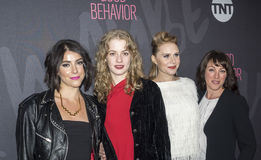Sophia Silver, Tess Frazer, Christiane Siedel, Samantha Soule. New York, NY, USA - November 14, 2016: L - R Sophia Silver, Tess Frazer, Christiane Siedel, and Royalty Free Stock Photography