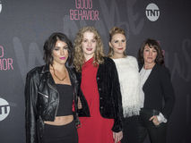 Sophia Silver, Tess Frazer, Christiane Siedel, Samantha Soule. New York, NY, USA - November 14, 2016: L - R Sophia Silver, Tess Frazer, Christiane Siedel, and Stock Photos