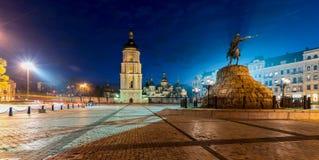 Sophia Square i Kyiv Arkivbild