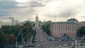 Sophia Square in Kiev stock footage