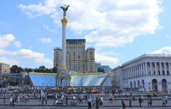 The central square in Kiev Stock Photography