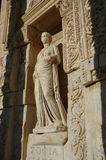 Sophia statue in Ephesus. One of four virtue statue of Ephesus celcus library (sophia-wisdom royalty free stock photo