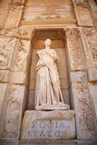 Sophia, the statue of Wisdom at Ephesus Stock Photos