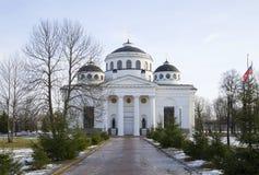 Sophia (wniebowstąpienie) Katedralny marszu popołudnie Tsarskoye Selo Fotografia Royalty Free