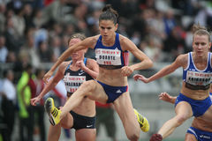 Sophie Duarte (FRA). At the 3000m steeple during the Seat Decanation in Paris Charlety Royalty Free Stock Photo