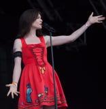 Sophie Ellis Bexter в реальном маштабе времени на фестивале Westport Стоковые Фото