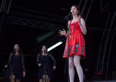 Sophie Ellis Bexter в реальном маштабе времени на фестивале Westport Стоковое Фото