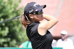 Sophie Gustafson på golf Evian styrer 2012 royaltyfri fotografi