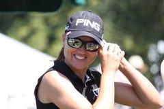 Sophie Gustafson på golf Evian styrer 2012 royaltyfria foton