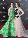Sophie McShera & Holliday Grainger. LOS ANGELES, CA - MARCH 1, 2015: Sophie McShera & Holliday Grainger (right) at the world premiere of their movie Cinderella stock images