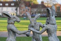Sophie Ryder Art Exhibition alla cattedrale di Salisbury Fotografia Stock Libera da Diritti