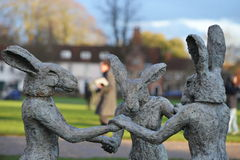 Sophie Ryder Art Exhibition at Salisbury Cathedral Stock Images
