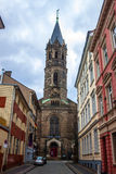 Sophienkirche church. WUPPERTAL, GERMANY - AUG 13: Sophienkirche church in Wuppertal, Germany on Aug 13, 2013. Wuppertal is a city in North Rhine-Westphalia with Royalty Free Stock Photo